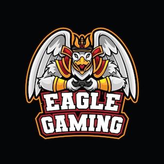 Modelo de logotipo de eagle samurai esport