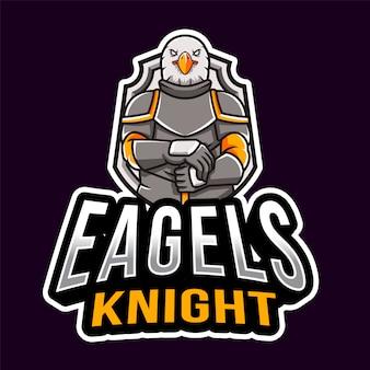Modelo de logotipo de eagles knight esport