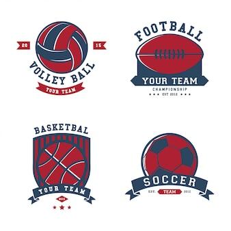 Modelo de logotipo de emblemas do esporte