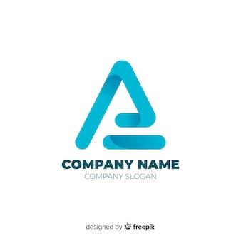 Modelo de logotipo de empresa abstrata gradiente