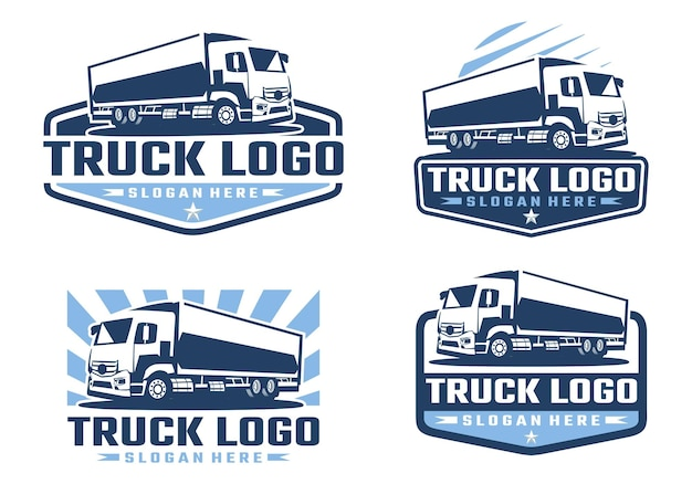 Modelo de logotipo de empresa de caminhões