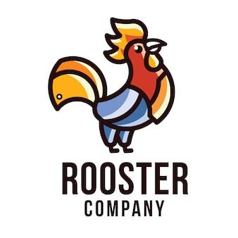 Modelo de logotipo de empresa de galo