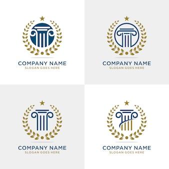 Modelo de logotipo de empresa de lei de pilar