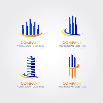 Modelo de logotipo de empresa de negócio abstrato