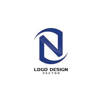 Modelo de logotipo de empresa de negócios abstrato símbolo n