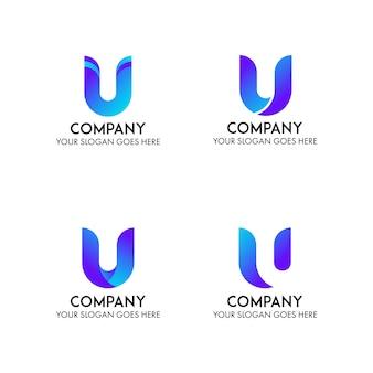 Modelo de logotipo de empresa de negócios de u