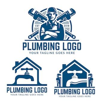 Modelo de logotipo de encanamento