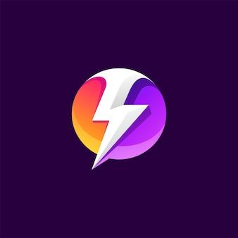 Modelo de logotipo de energia