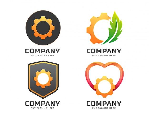 Modelo de logotipo de engrenagem inteligente para empresa