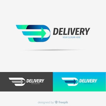 Modelo de logotipo de entrega abstrata