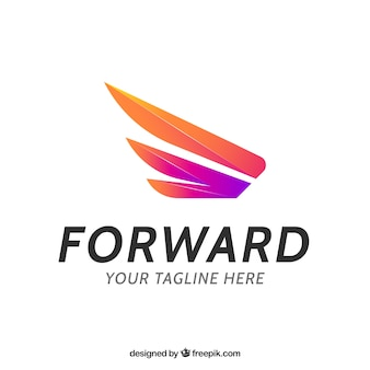 Modelo de logotipo de entrega com efeito de gradiente