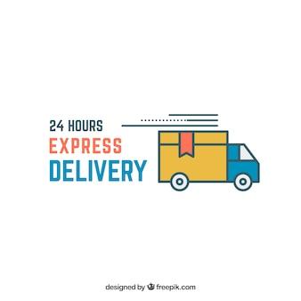 Modelo de logotipo de entrega expressa