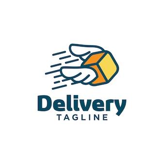 Modelo de logotipo de entrega