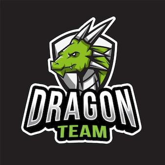 Modelo de logotipo de equipe de dragão