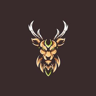 Modelo de logotipo de equipe de veados e-sports