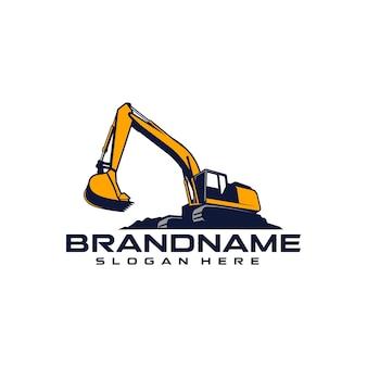 Modelo de logotipo de escavadeira