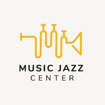 Modelo de logotipo de escola de música, vetor de design de marca de negócios de entretenimento
