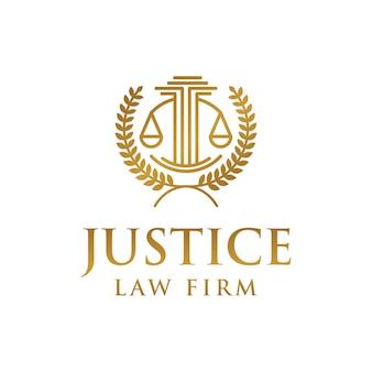 Modelo de logotipo de escritório de advocacia de justiça