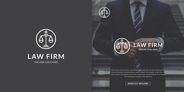Modelo de logotipo de escritório de advocacia