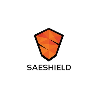 Modelo de logotipo de escudo letra s