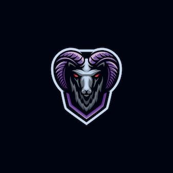 Modelo de logotipo de esporte de cabra