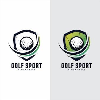Modelo de logotipo de esporte de golfe