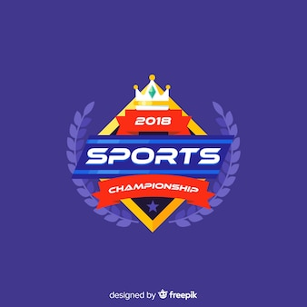 Modelo de logotipo de esporte moderno com design abstrato