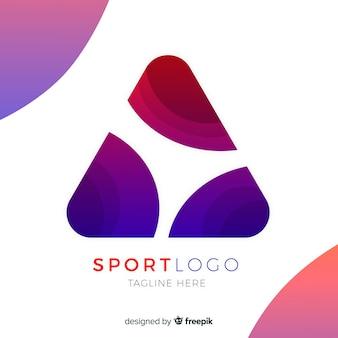 Modelo de logotipo de esportes abstratos