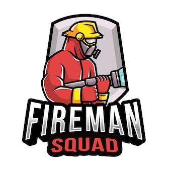 Modelo de logotipo de esquadrão de bombeiros