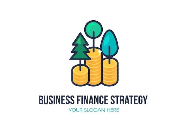 Modelo de logotipo de estratégia de finanças empresariais