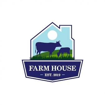 Modelo de logotipo de fazenda