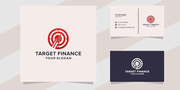 Modelo de logotipo de finanças de destino