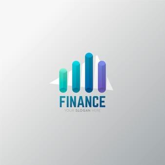 Modelo de logotipo de finanças gradiente