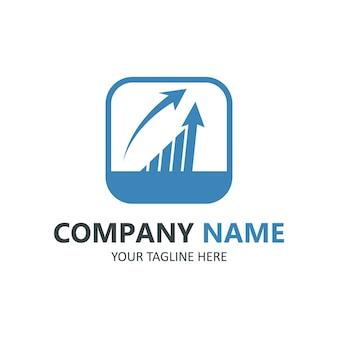 Modelo de logotipo de finanças