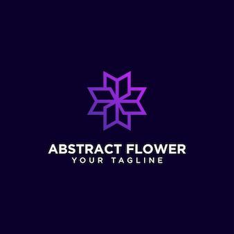 Modelo de logotipo de flor abstrata