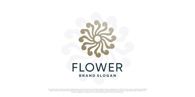 Modelo de logotipo de flor com conceito único criativo premium vector parte 1
