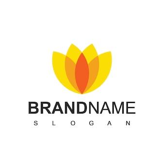 Modelo de logotipo de flor de beleza