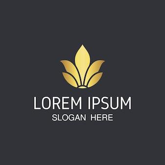 Modelo de logotipo de flor elegante