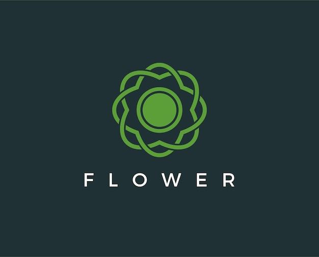 Modelo de logotipo de flor mínima