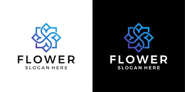 Modelo de logotipo de flor