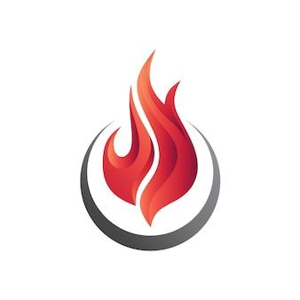 Modelo de logotipo de fogo