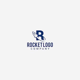 Modelo de logotipo de foguete
