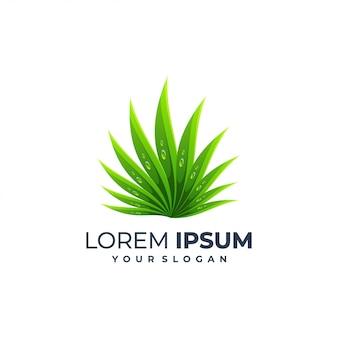 Modelo de logotipo de folha