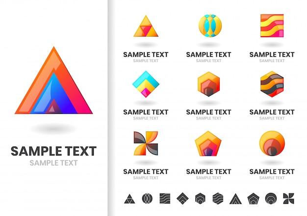 Modelo de logotipo de forma moderna