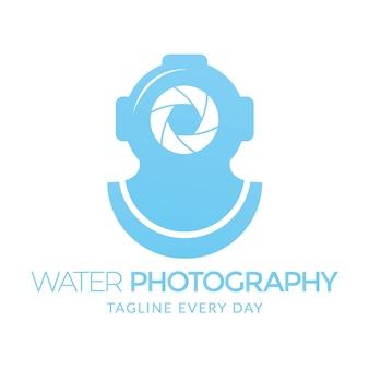 Modelo de logotipo de fotografia de água