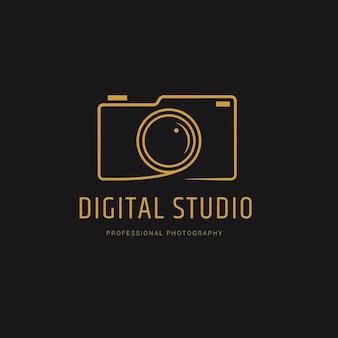 Modelo de logotipo de fotografia moderna