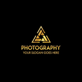 Modelo de logotipo de fotografia profissional de triangel
