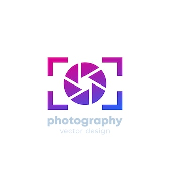 Modelo de logotipo de fotografia