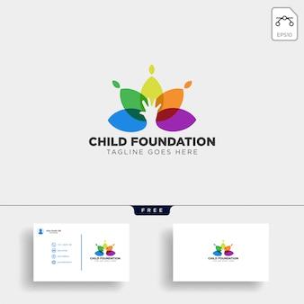 Modelo de logotipo de fundação de criança