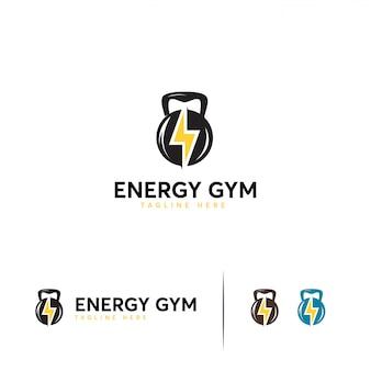 Modelo de logotipo de ginásio de energia
